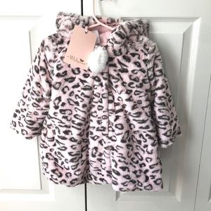 Other - NWT Widgeon Pink Leopard Faux Fur Hooded Jacket